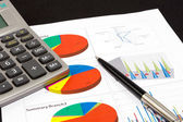 Business report graph — Stock Photo