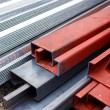 Stock Photo: Steel roof for home