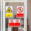 Stock Photo: Safety signs broad