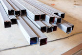 Steel for factory construction — Stock Photo