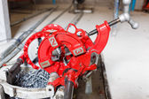 Steel pipe cutter for construction — ストック写真