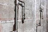 стальная труба в завод строительной площадки — Стоковое фото