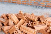 レンガの壁の家の建物の建設 — ストック写真