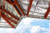 Construção de telhado para casa nova — Fotografia Stock