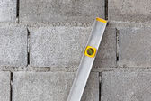 Spirit level using for home construction — 图库照片