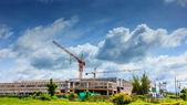 Construction site with crane — Stock Photo