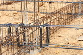 Foundation steel rod for house building — Φωτογραφία Αρχείου