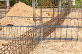 Foundation steel rod for house building — 图库照片