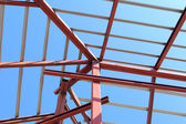 Roof steel construction for new house — Foto Stock