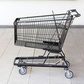 Trolley cart for shopping in supermaket — Stock Photo