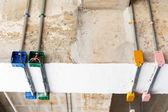 Kovové elektrický řezák trubek a konektor — Stock fotografie