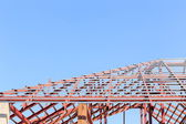 Roof steel construction for new house — Stock Photo
