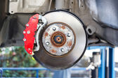Front Disk brake assembly repair — Stock Photo