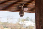 CCTV under house roof — Stock Photo