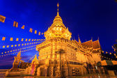 Gold pagoda in north of thailand temple  — Foto Stock