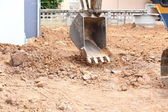 Excavator bucket on construction site — Photo