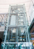 Glass elevator — Stock Photo