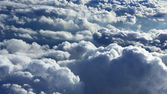 Clouds on sky from plane view — Stock fotografie