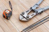 Steel ron cutter for construction job — Foto de Stock