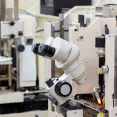 Microscope for manufacturing  — Stock Photo