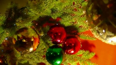 Christmas branch — Stock Video