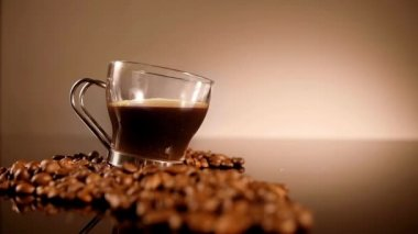 Cup Of Coffee with sugar — Stock Video