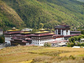 The Tashichhoedzong in the city of Thimpu in Bhutan — Stock Photo