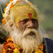An old man dressed up for the Diwali festival — Stock Photo