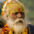 An old man dressed up for the Diwali festival — Stok fotoğraf