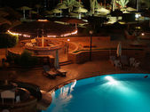 Pool by night — Stock Photo