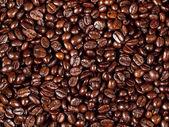 Background of freshly dark roasted coffee beans — Stock Photo