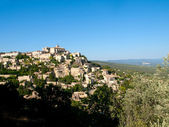 View over the ancient city of Gordes in France — Stock Photo