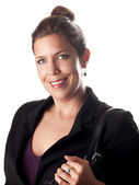 Beautiful succesful businesswoman smiling in to the camera — Stock Photo