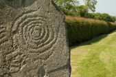 Symbol at Newgrange, Ireland — Stock Photo