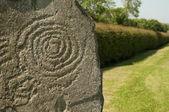 Symbol at Newgrange, Ireland — Stock Photo