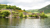 Urquhart Castle at Loch Ness, Scotland — Stock Photo