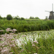 Windmill at Kinderdijk, Netherlands — Stock Photo