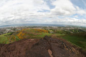 View from Arthur's Seat, Edinburgh — Stock Photo