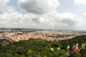 View from Petrin Lookout Tower, Prague - Czech Republic — Stock fotografie