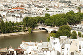 View from Notre- Drame Cathedral, Paris — Stock Photo
