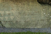 Symbol at Newgrange, Co. Meath - Ireland — Stock Photo