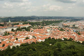 View from Petrin Lookout Tower, Prague - Czech Republic — Стоковое фото
