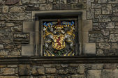 Edinburgh castle wapenschild detail — Stockfoto