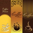 Coffe Banner — Stock Vector