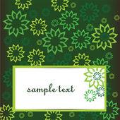 λουλούδια κάρτα — Διανυσματικό Αρχείο