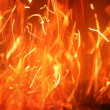 Stock Photo: Blazing fire