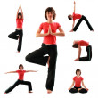 Yoga poses — Stock Photo