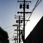 ligne électrique — Photo
