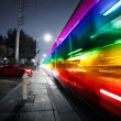 Stock Photo: Speeding bus, blurred motion