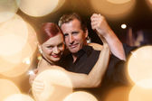 Couple dancing tango — Stock Photo